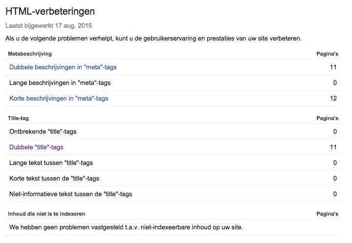 html-verbeteringen