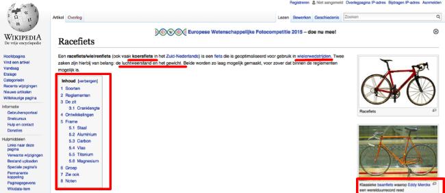 Wikipedia bevat enorm veel zoekwoorden