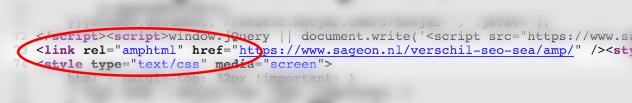 AMPHTML tag