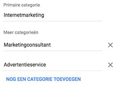 Categorieën in Business Manager