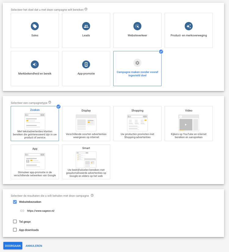 google-ads-campagne-stap-1-2-3