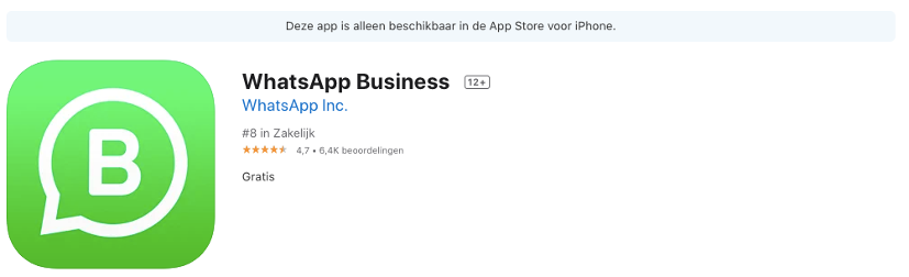 App store Whatsapp Business